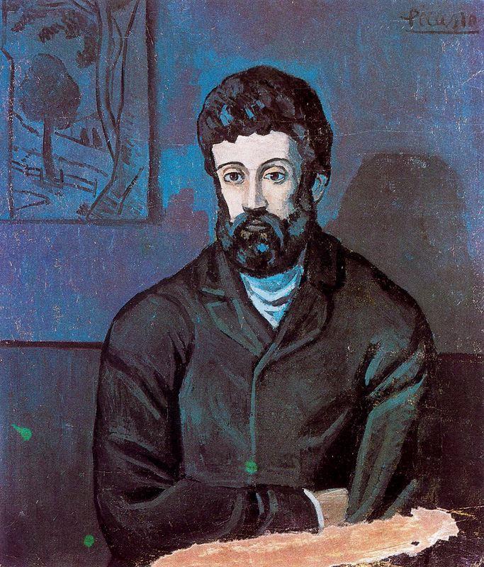 Пабло Пикассо. Мужчина с бородой