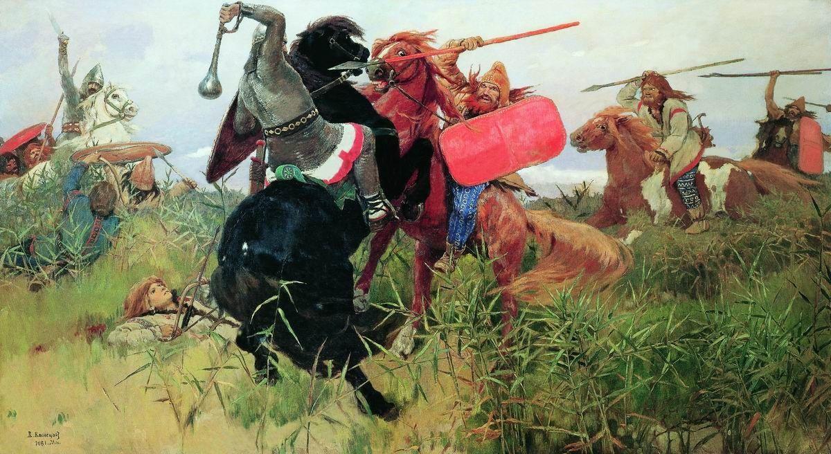 Victor Mikhailovich Vasnetsov. Battle of the Scythians with the Slavs