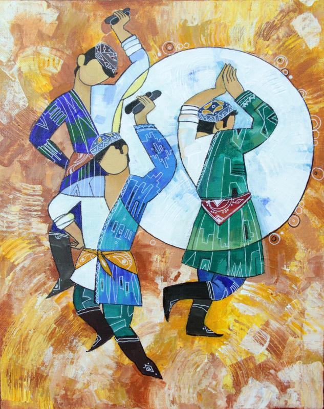 Mokhinur Maksumova. Dance. Diptych