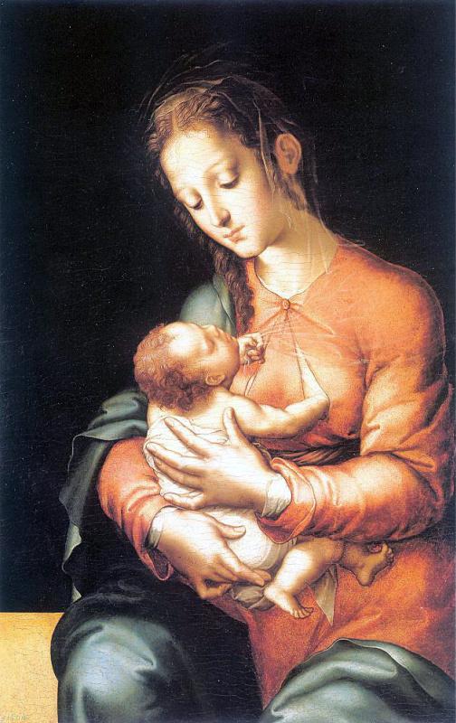 Луис де Моралес. Кормящая мать