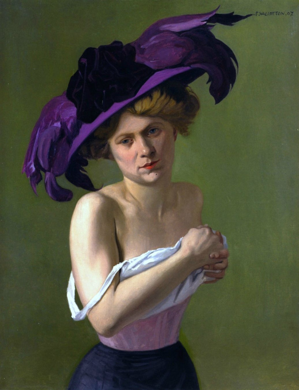Феликс Валлоттон. Фиолетовая шляпа