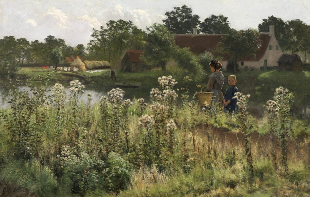 Emil Klaus. On the Lis river, Asten