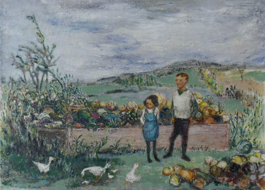 Eugene Ludins. On the farm