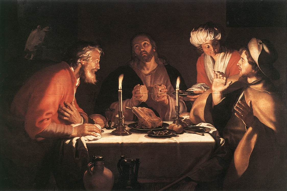 Abraham Bloomart. The Disciples Of Emmaus