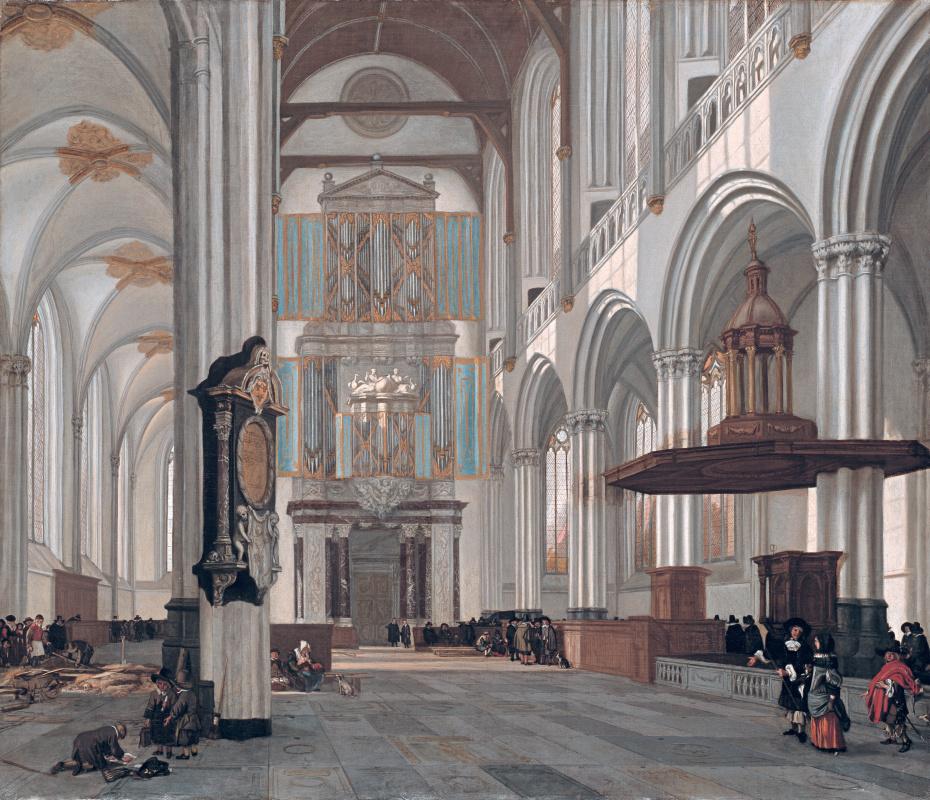 Эмануэль де Витте. Интерьер Новой церкви в Амстердаме