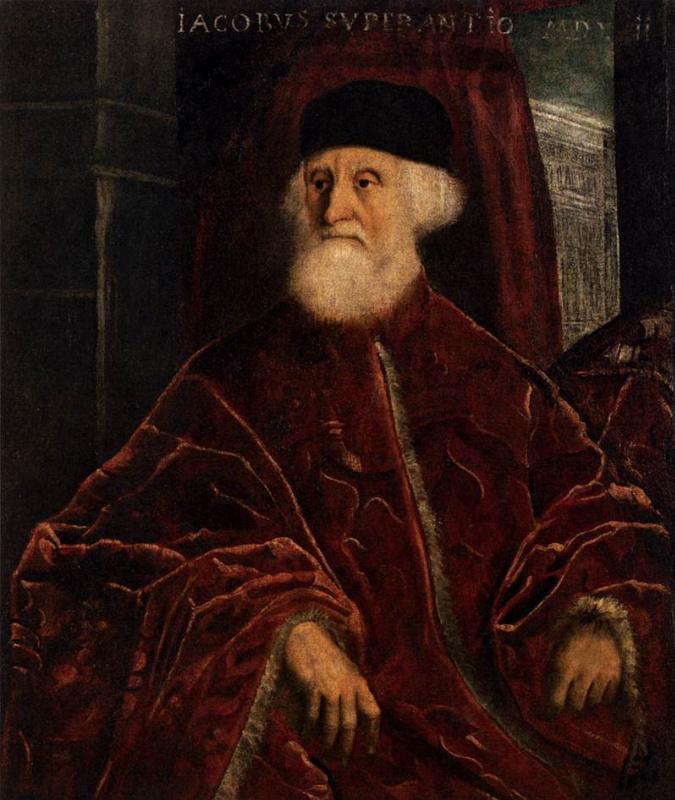 Jacopo (Robusti) Tintoretto. Portrait of prosecutor Jacopo Soranzo