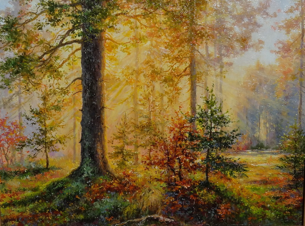 Irina Nikolaevna Borisova. Autumn morning in the forest.