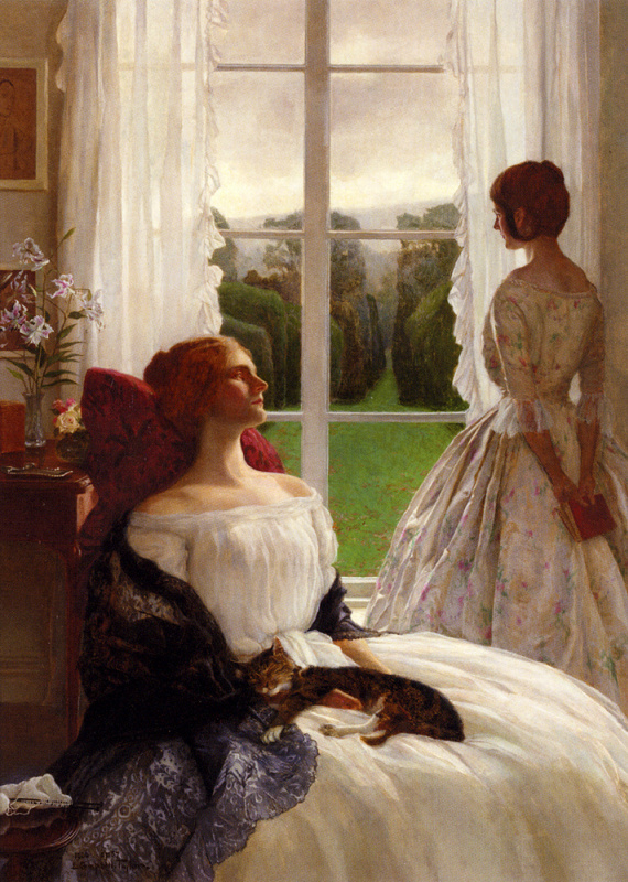 Леонард Кэмпбелл Тейлор. Девушка в ожидании у окна