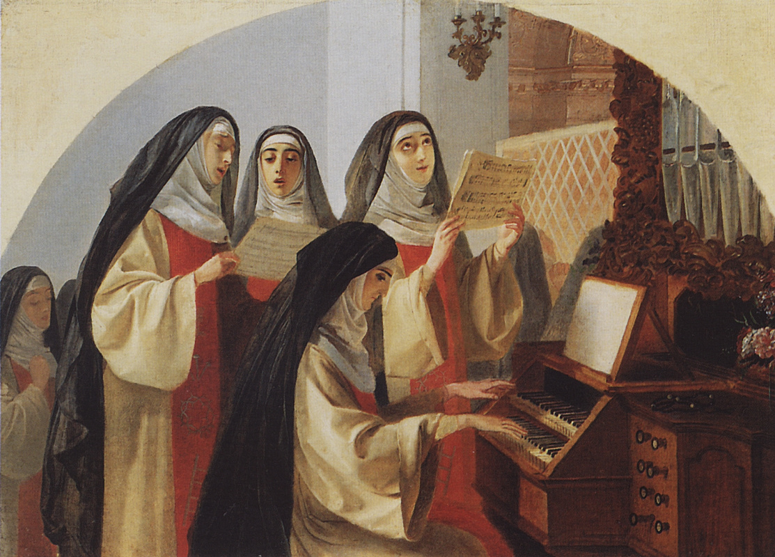 Karl Bryullov. The nuns of the convent of the sacred Heart in Rome