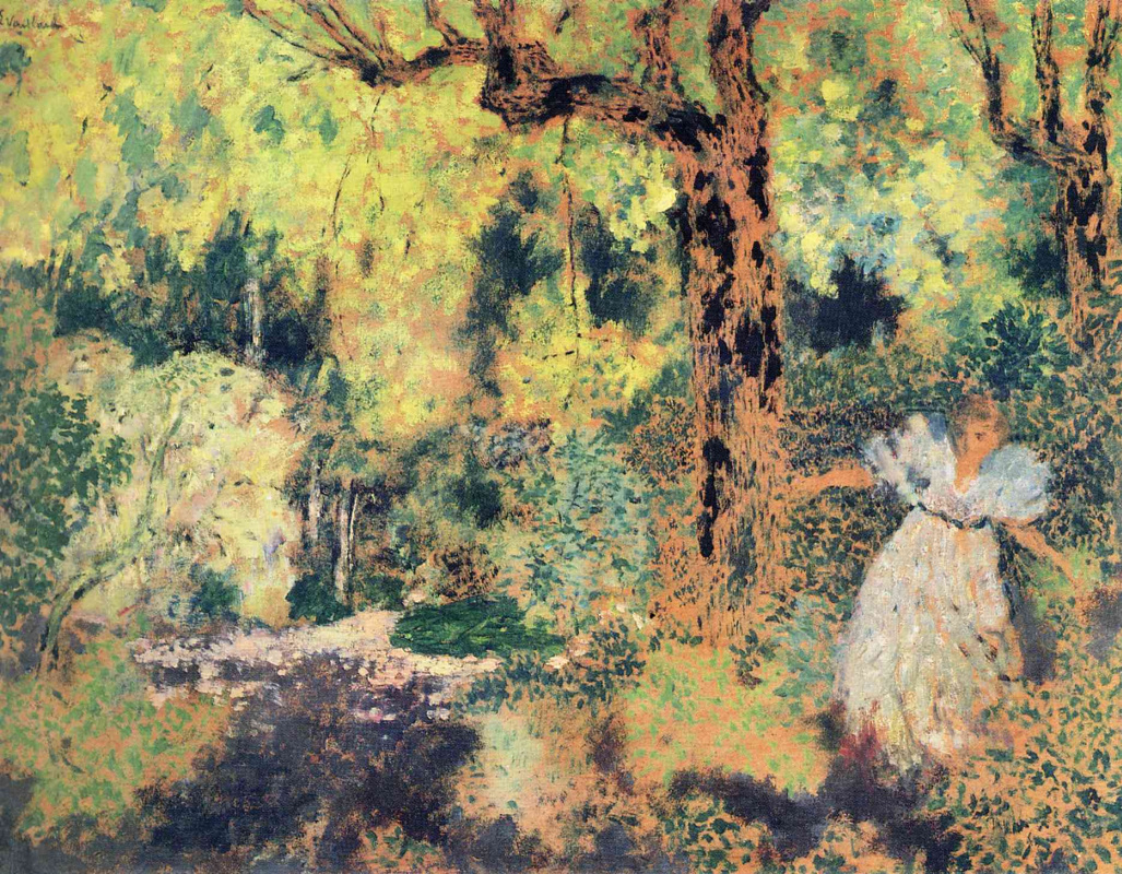 Jean Edouard Vuillard. Misia Nathanson in the forest