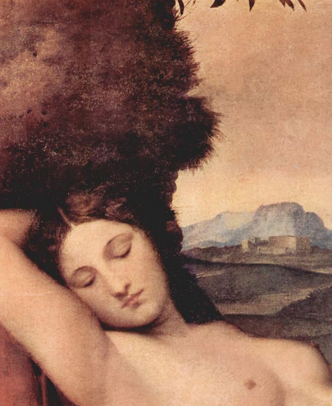 Джорджоне. Спящая Венера. Деталь