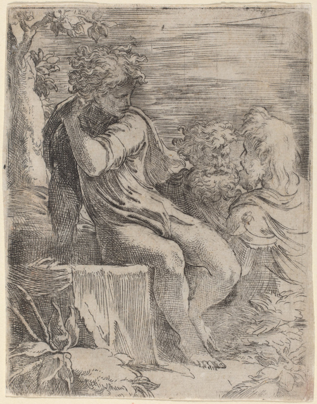 Francesco Parmigianino. The Boy and Two Old Men