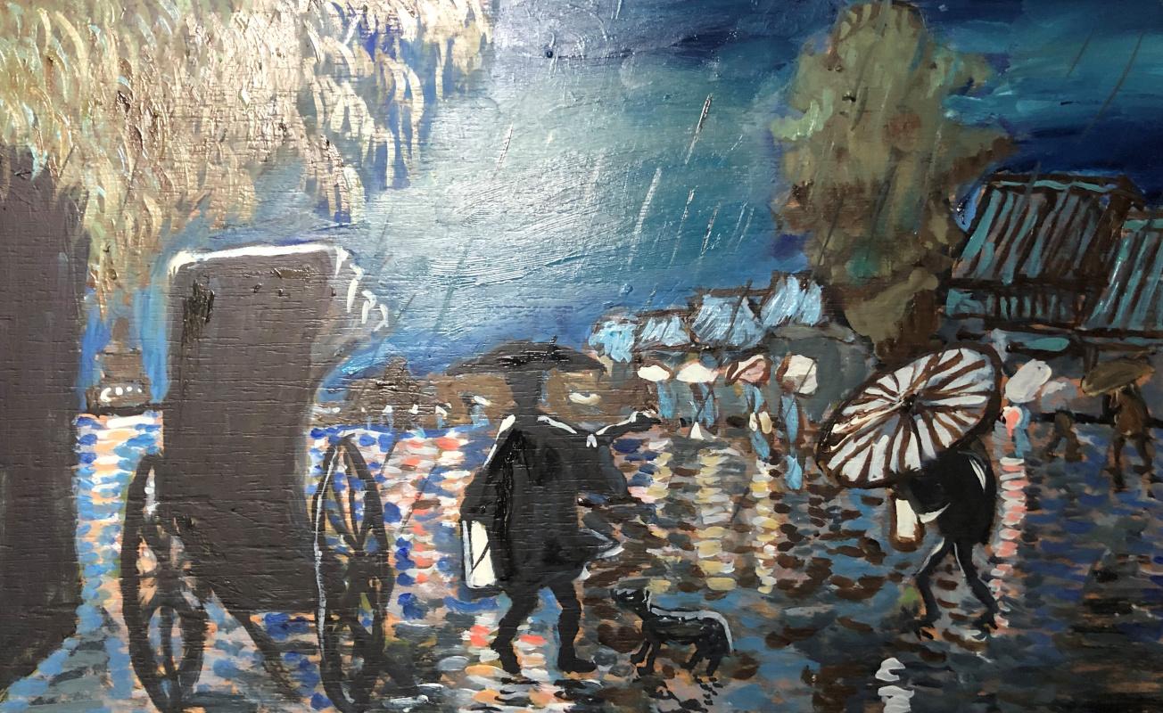 Sergey Vladimirovich Sebini. Evening rain