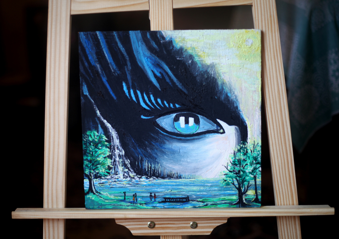 Michael Tchitchinadze (13). Sativa - - wood 28 x 28. oil. Price 500 $