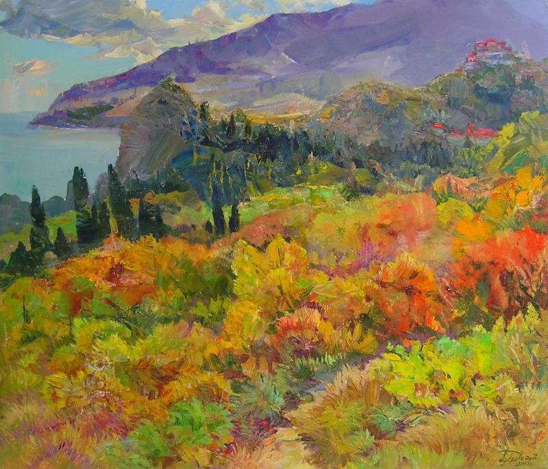 Александр Алексеевич Дубровский. Velvet Autumn Painting by Oleksandr Dubrovskyy