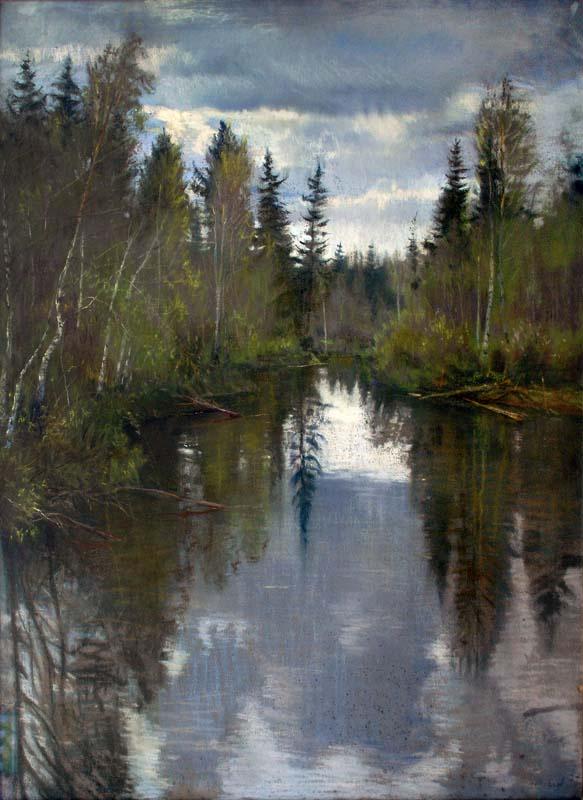 "Alexey Nikolaevich Liberov. ""Northern Spring"" 1957"