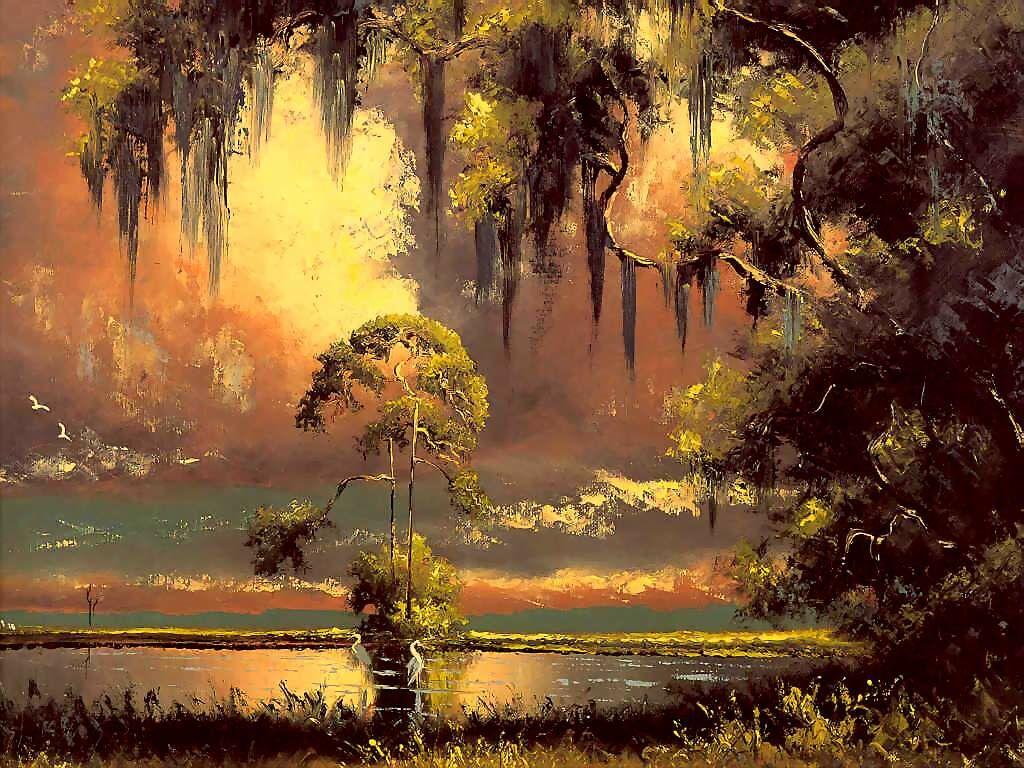 Вилли Дэниелс. Закат на озере