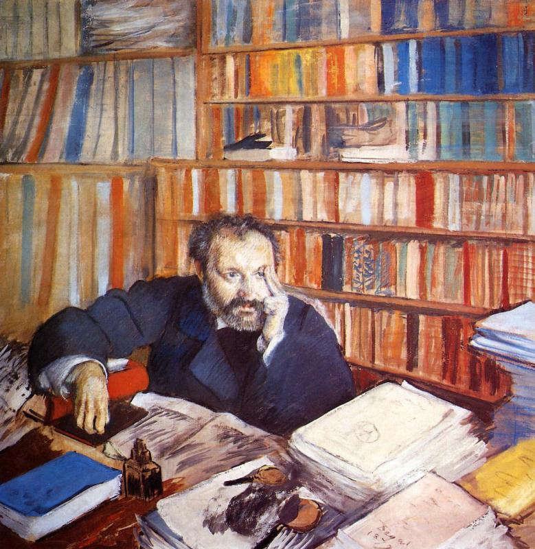 Этот портрет пастелью писателя и искусствоведа Эдмона Дюранти висел в кабинете Шарля Эфрусси