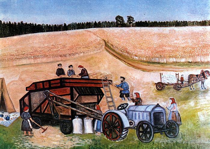 M. D. Utkin. Dubrovsky collective farm