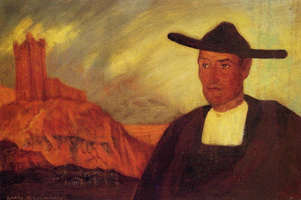 Ramon De Zubiaure. The man in the hat