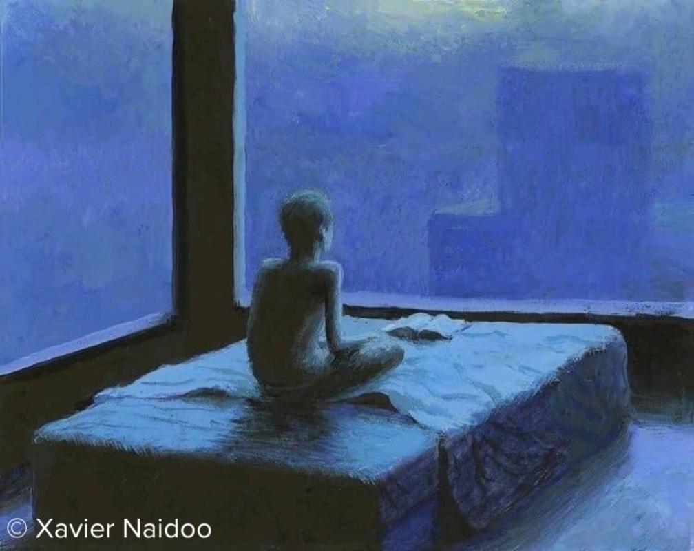 Xavier Naidoo. Painting Artwork
