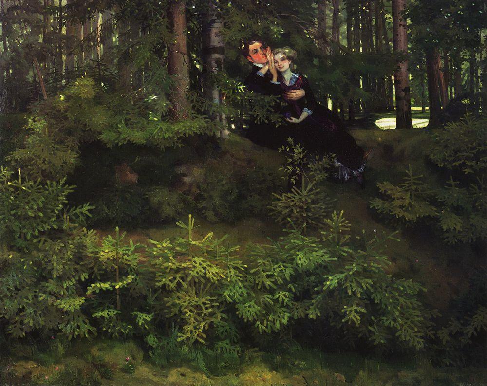 Константин Андреевич Сомов. В лесу