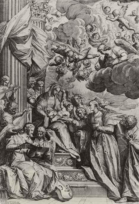 Агостино Карраччи. Мистическое обручение святой Екатерины Александрийской