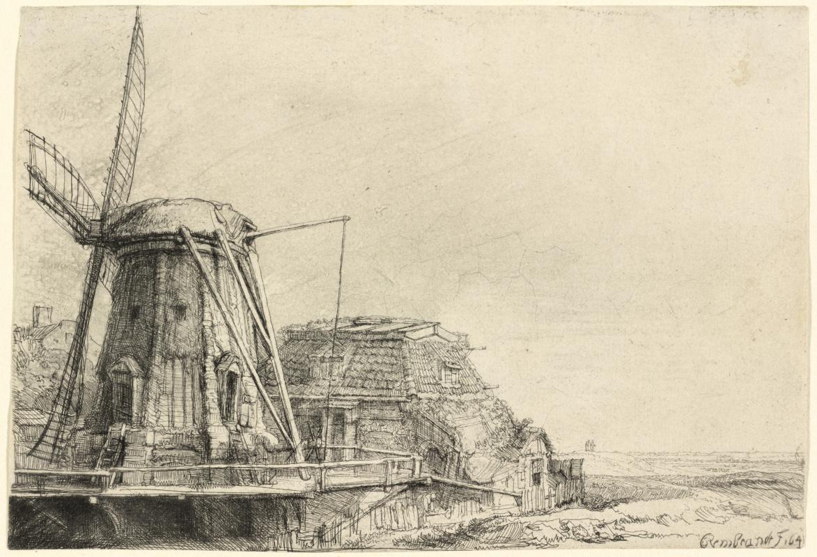 Рембрандт Харменс ван Рейн. Ветряная мельница