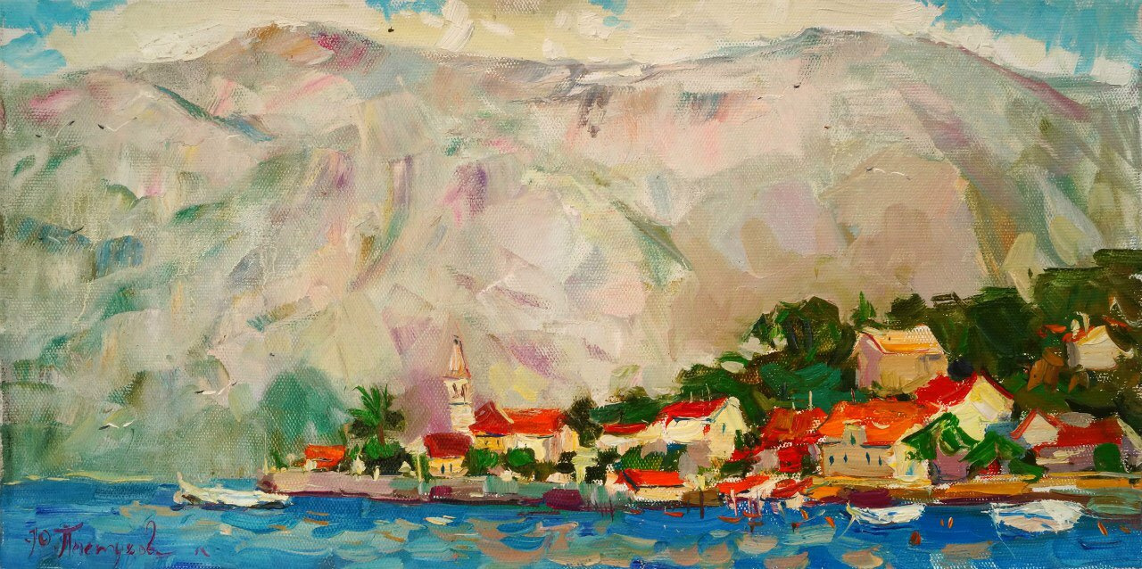 Yulia Pastuhova. Adriatic 30x60 oil on canvas