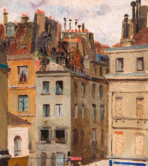 Elena Dmitrievna Polenova. Paris Roofs