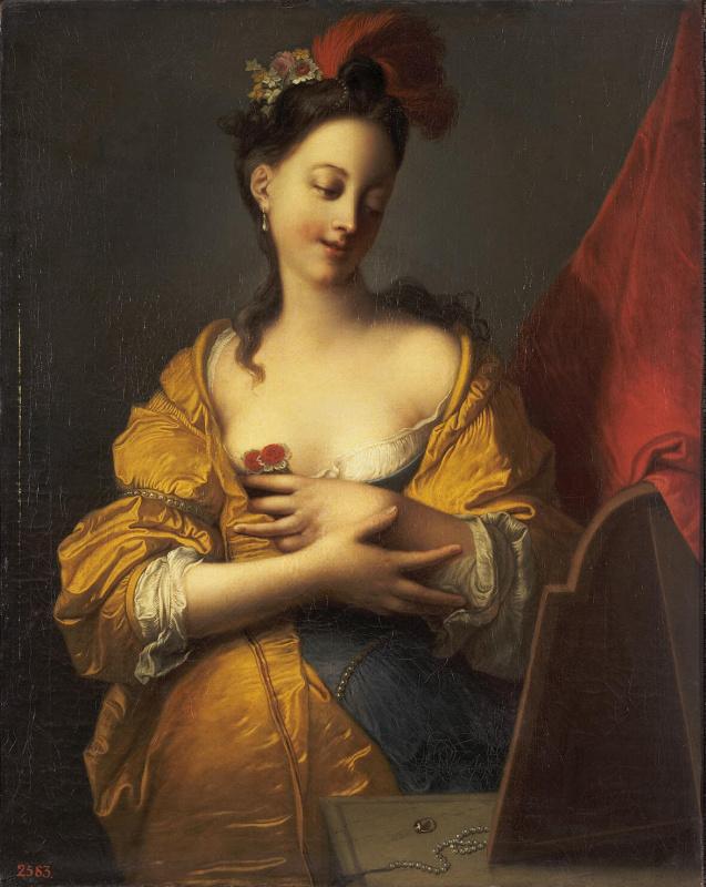 Жак-Франсуа Куртен. Молодая женщина перед зеркалом
