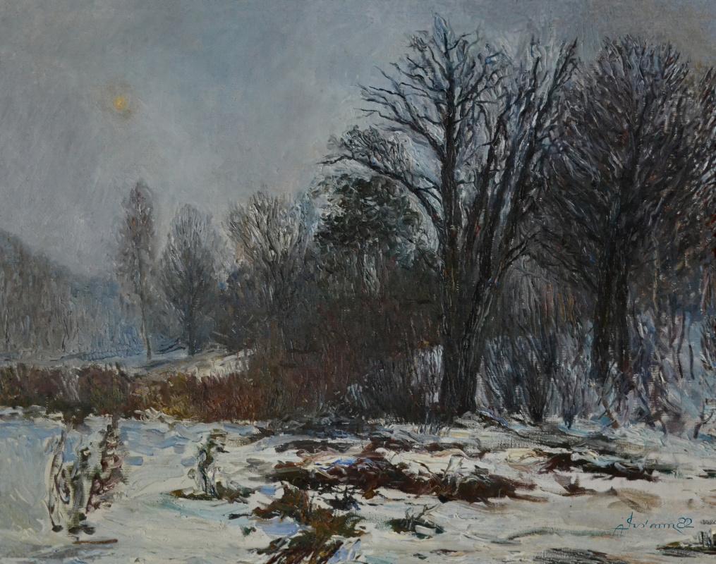 Alexander Vasilievich Kuzmin. Winter has come.