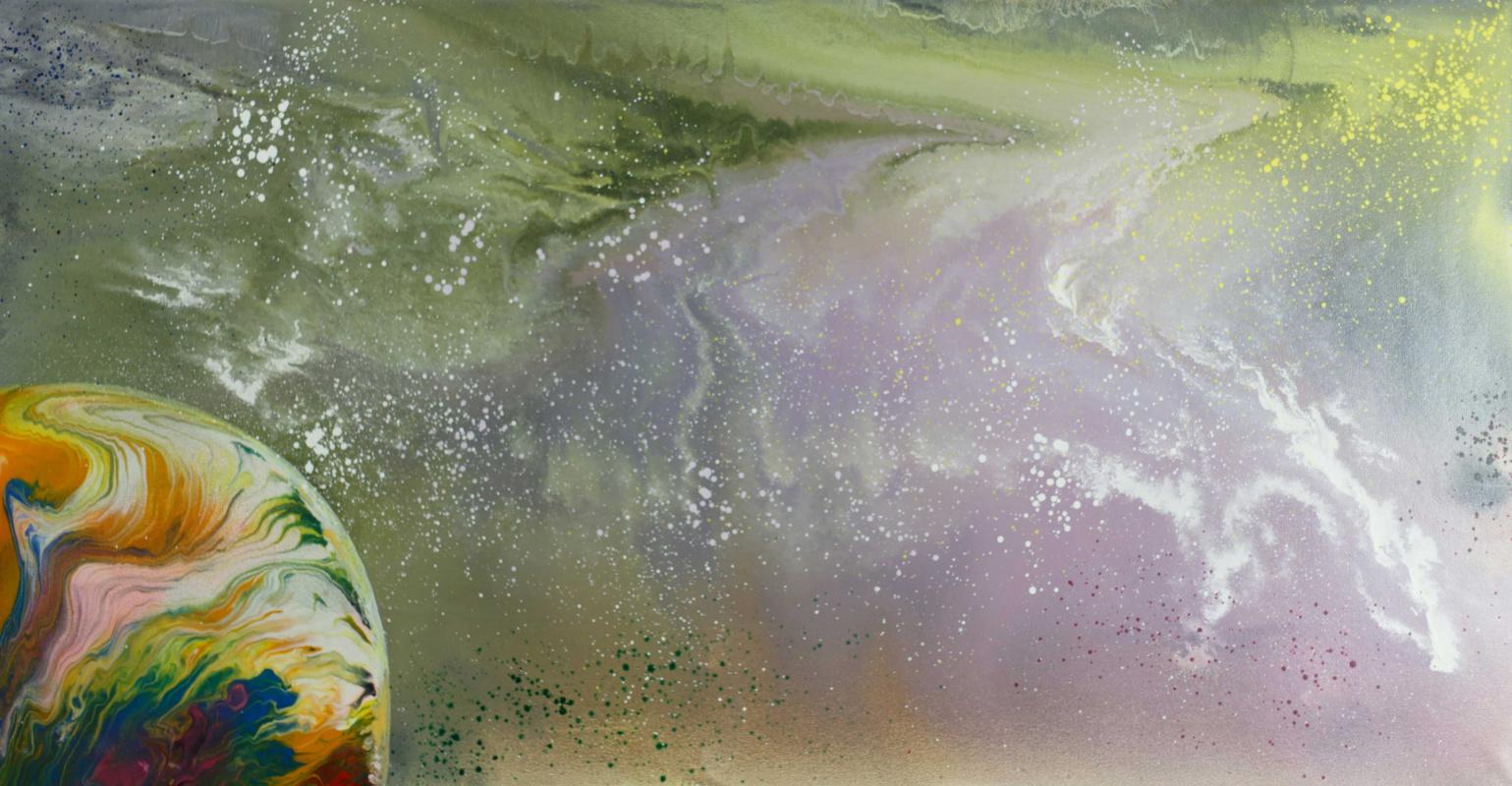 "Alla Struchayeva. The painting ""brooding space"""