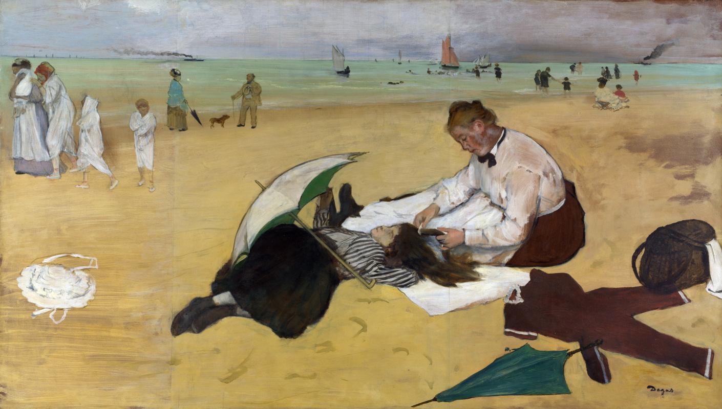 Эдгар Дега. Пляжная сцена