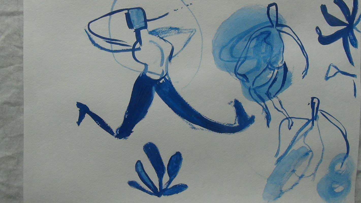 Yana Valerievna Chuprina. Moving blue