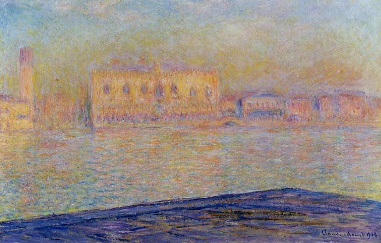 Клод Моне. Дворец Дожей, вид с Сан-Джорджо Маджоре
