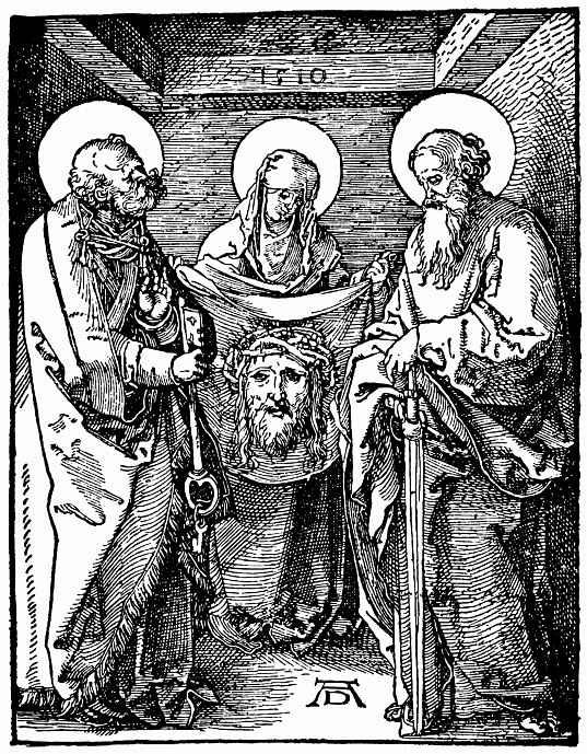 Альбрехт Дюрер. Святая Вероника между святыми Пётром и Павлом