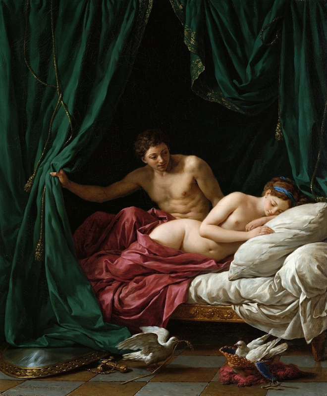 Louis Jean-Francois Lagrene. Mars and Venus, Allegory of peace or