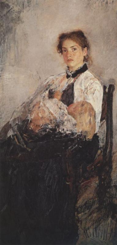 Валентин Александрович Серов. Портрет Н.Я. Дервиз с ребенком
