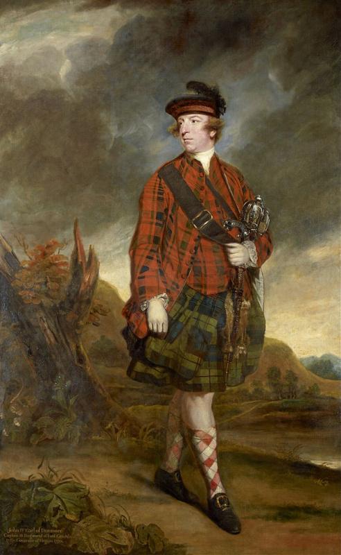 Joshua Reynolds. Portrait of John Murray, 4th Earl of Dunmore