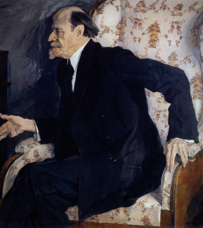 Pavel Dmitrievich Korin Russia 1892 - 1967. Portrait of the artist M. V. Nesterov. State Tretyakov Gallery, Moscow
