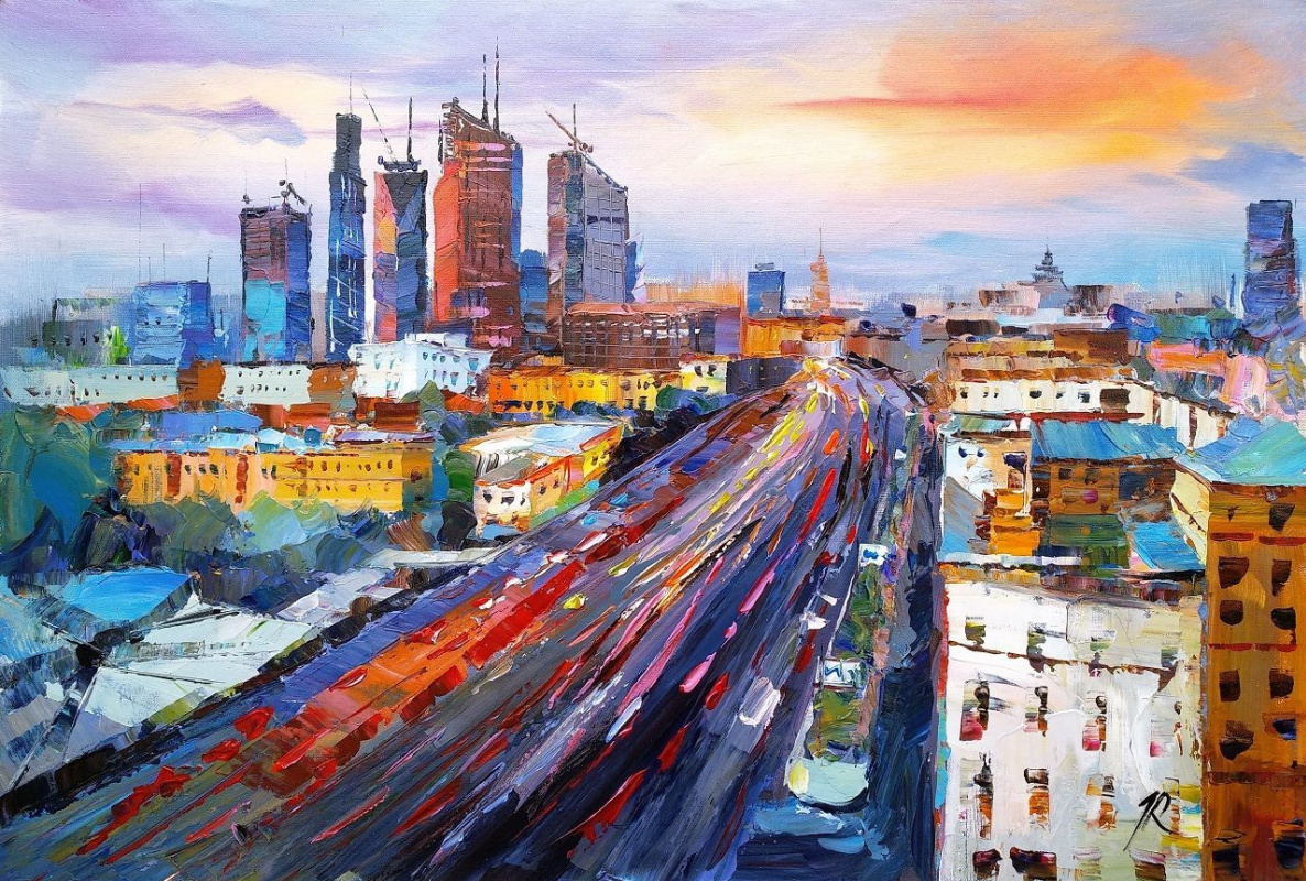 Jose Rodriguez. Moscow City. Megapolis in motion