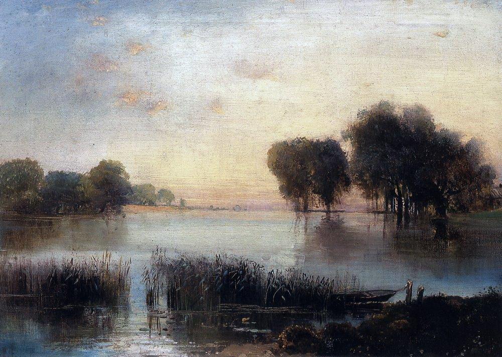 Алексей Кондратьевич Саврасов. Пейзаж с рекой