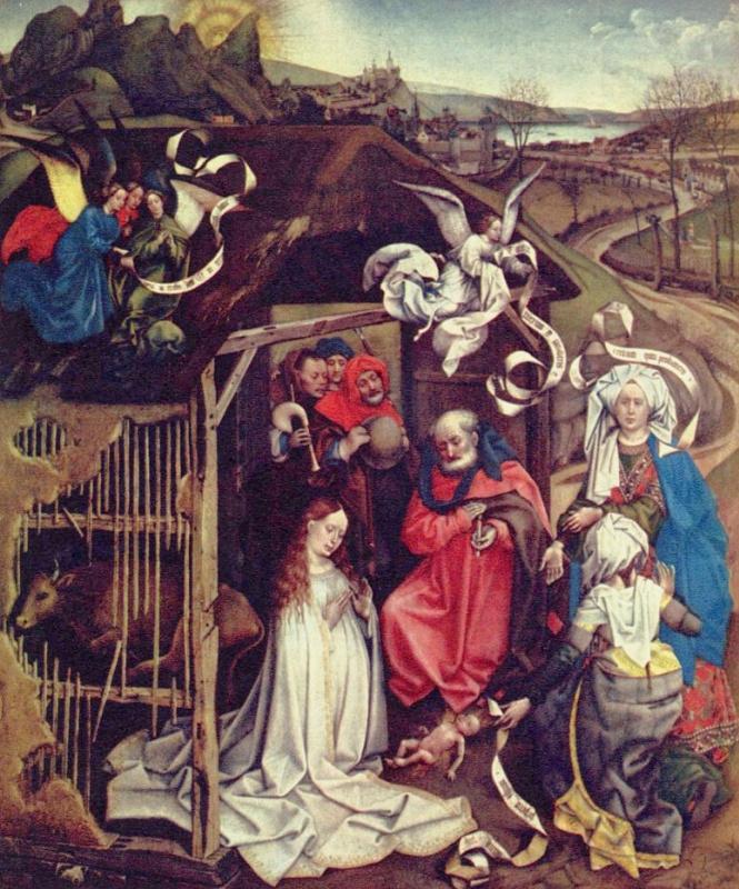 Робер Кампен. Рождение Христа