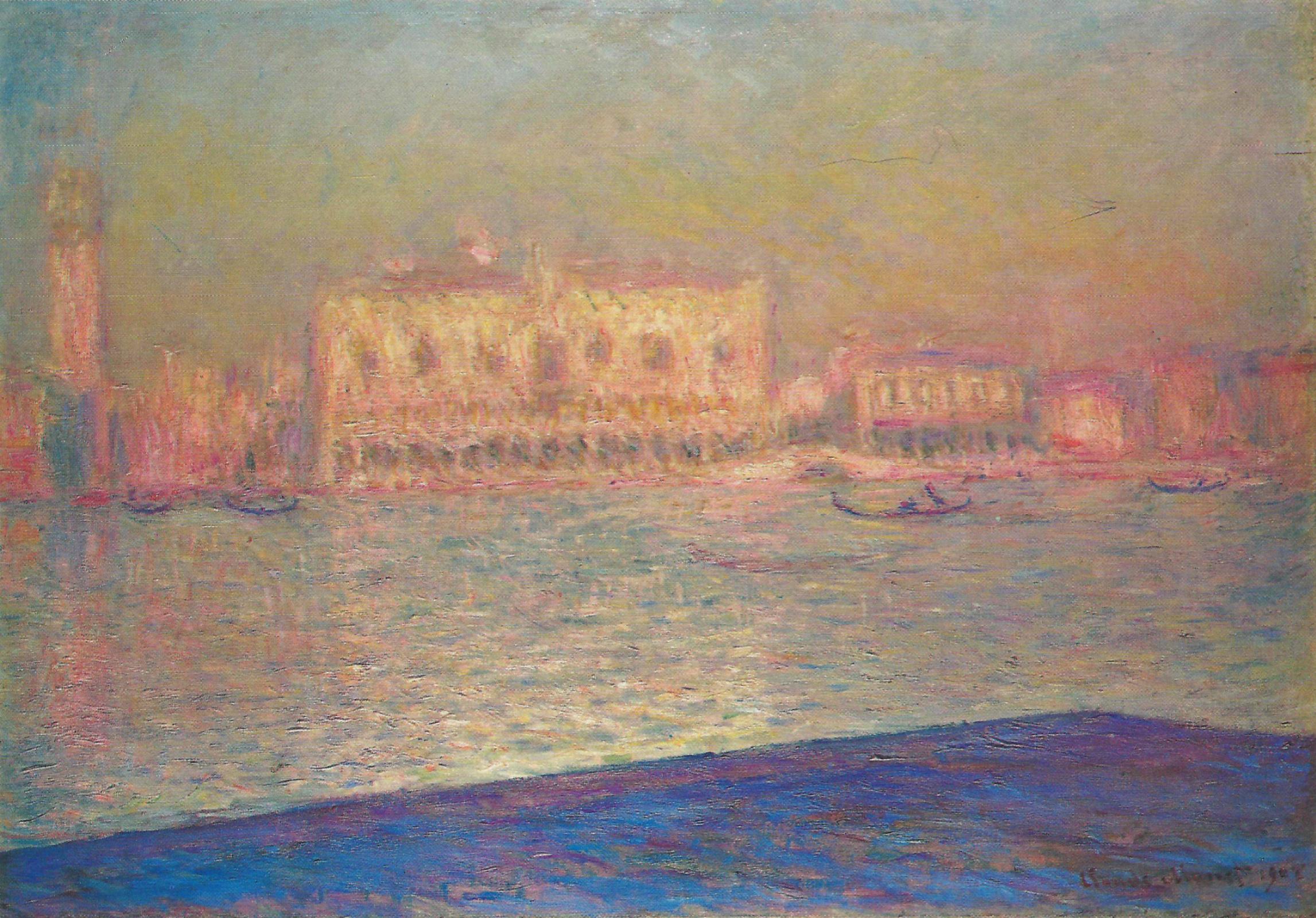 Клод Моне. Дворец Дожей с острова Сан-Джорджио Маджоре. Венеция