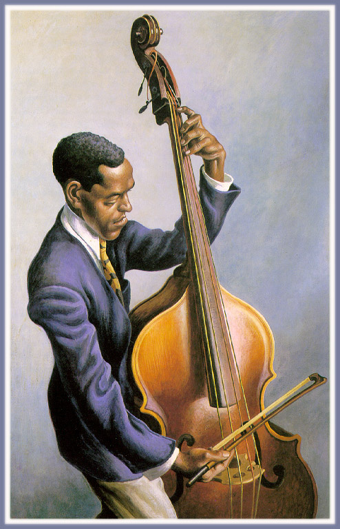 Thomas Hart Benton. Portrait of a musician