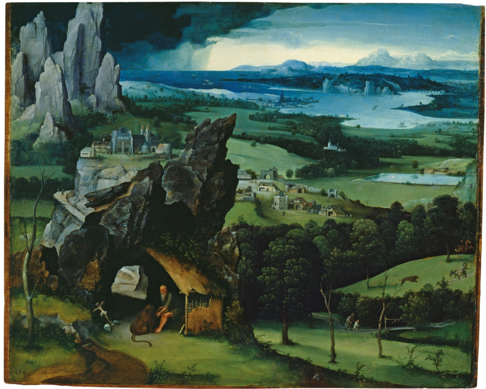 Joachim Patinir. Landscape with Saint Jerome