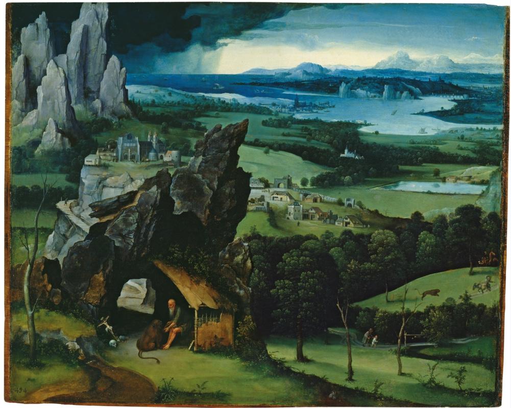 Joachim Patinir. Landscape with Saint Jerome