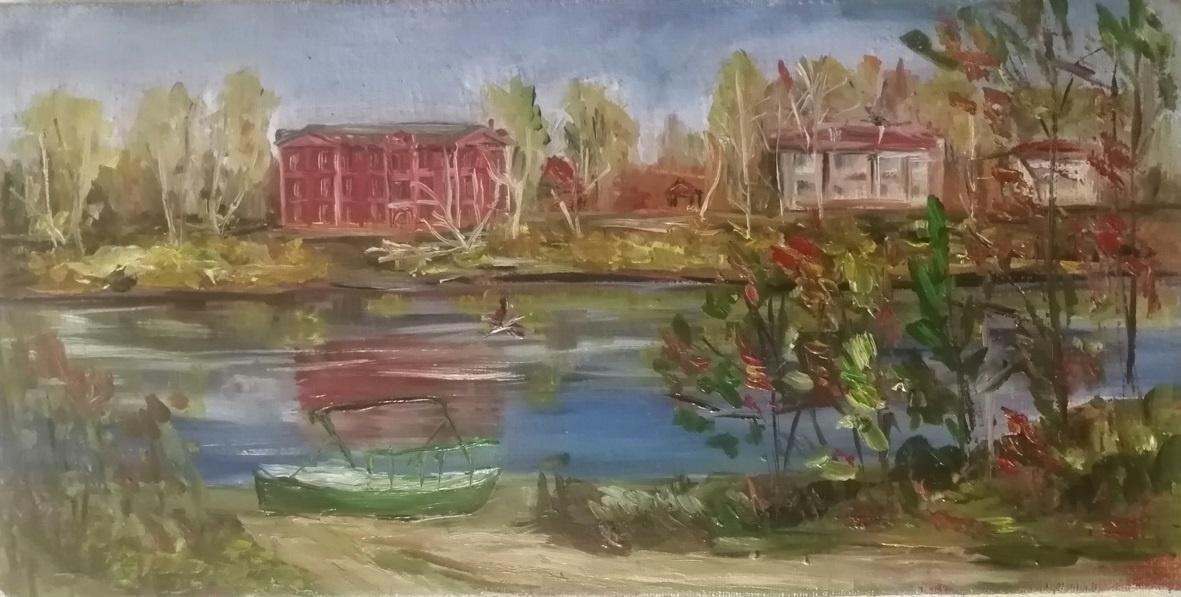 Elena Ivanovna Vydrina. On the shore of Sukhona