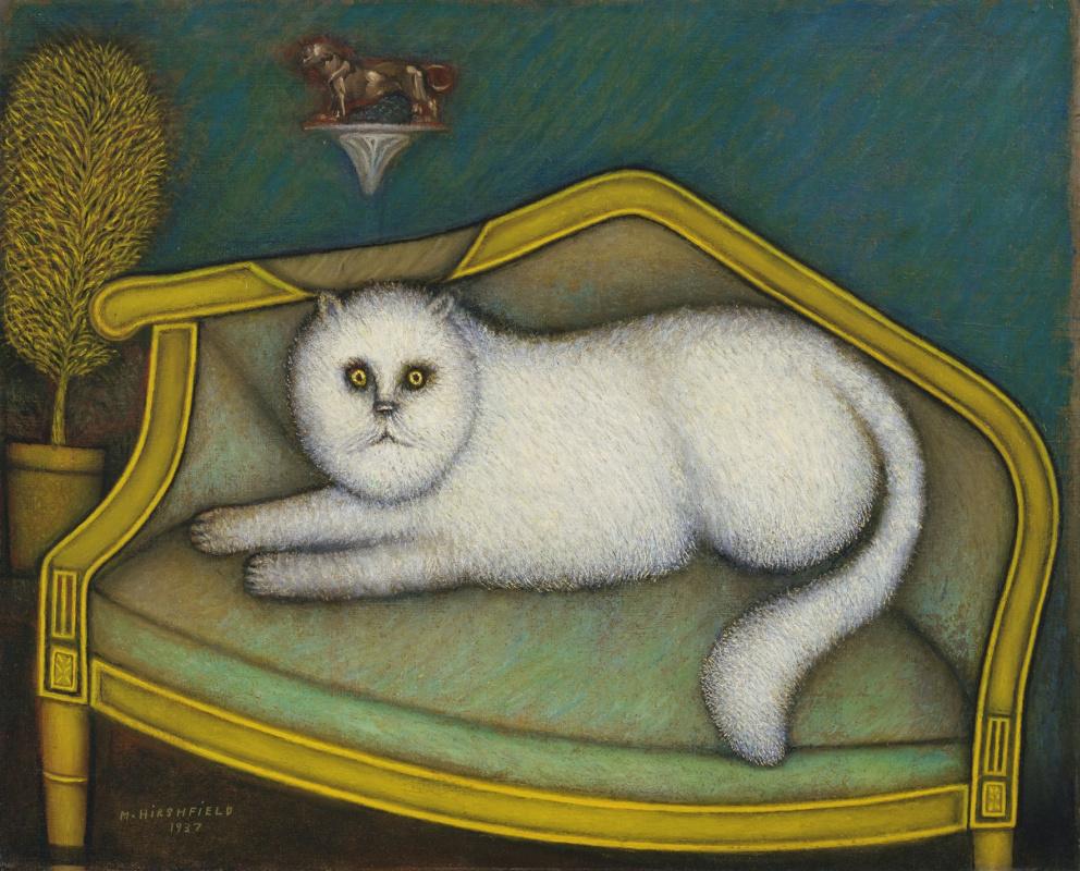 Morris Hirschfield. Angora cat